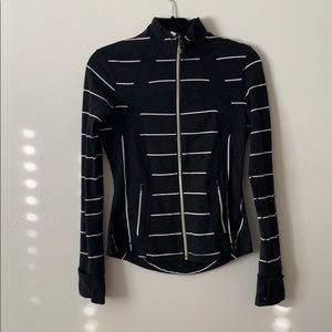 Lululemon jacket w horizontal stripes